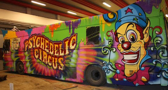 Psychedelic Circus Party bus