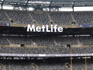 Upper decks at MetLife Stadium in New Jersey.