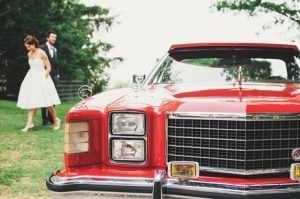 A limo rental service for a wedding