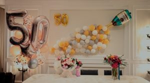 décor for 50th wedding anniversary celebrations